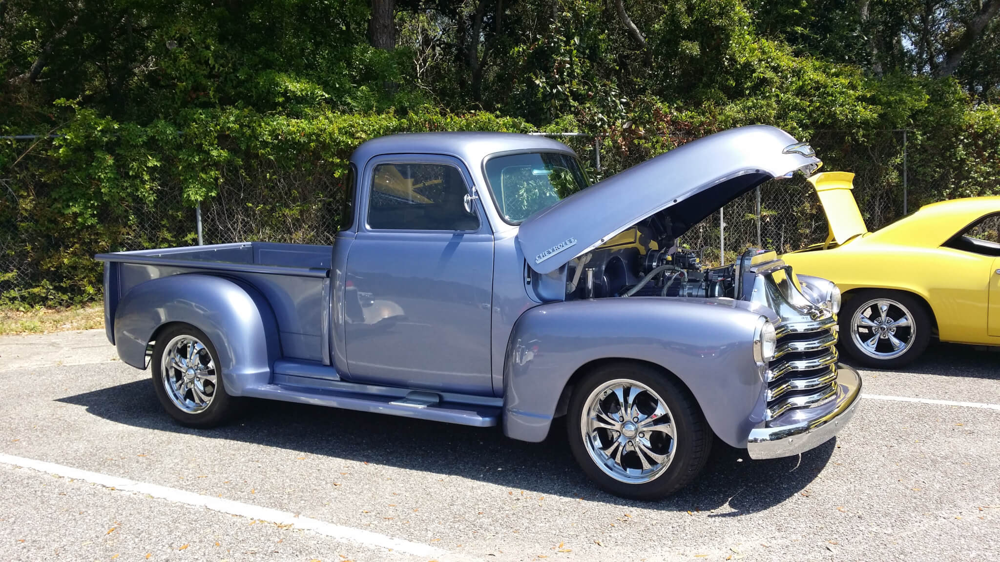 1955 Chevy Custom Paint David L Lmc Truck Life Since Then It Has Had The 2 Rear Fenders Replaced Thanks To Doors Have Been Shaved And Was Perfectly Matched Still Planning A Couple Other