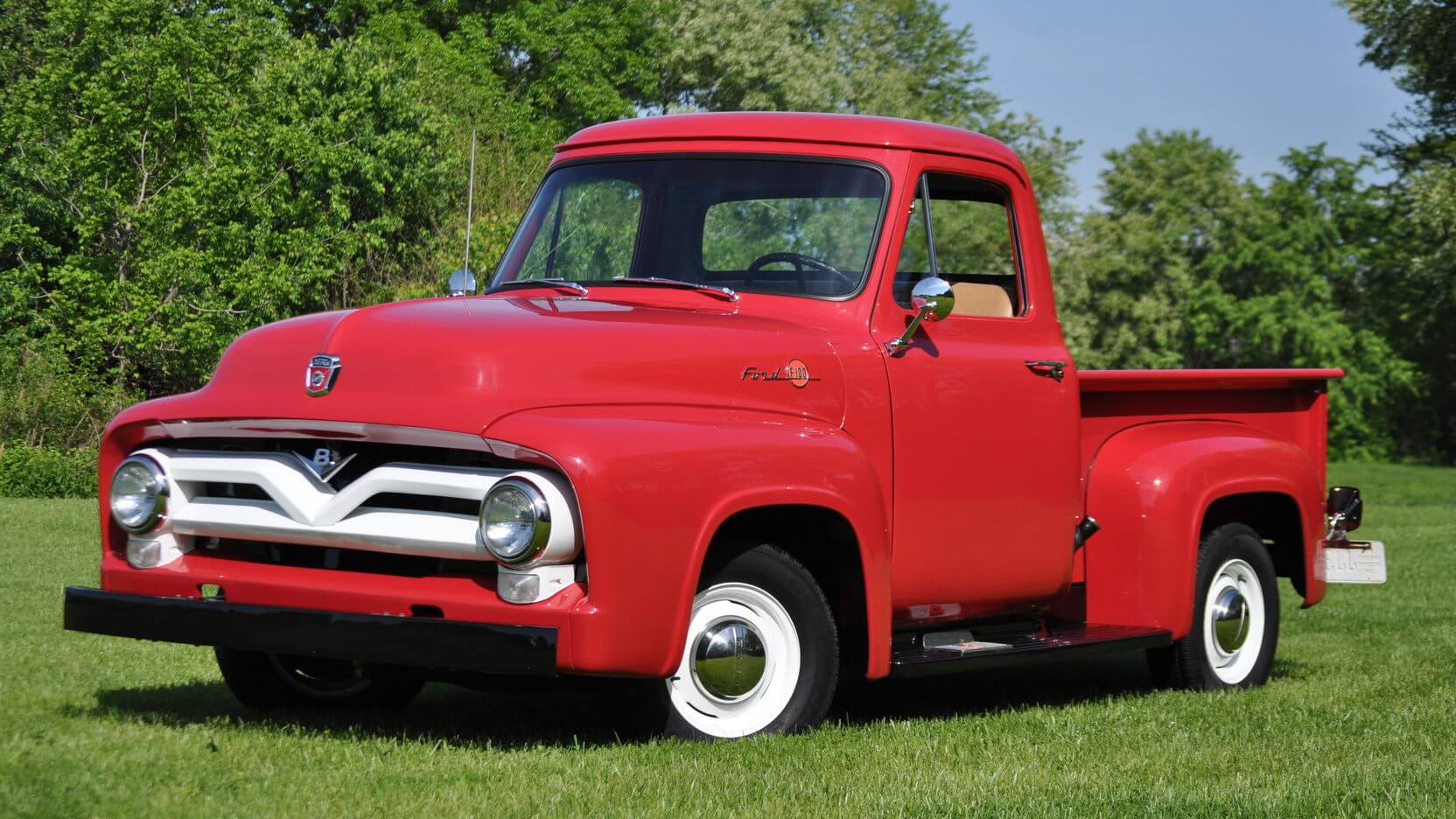 1955 Ford F 100 Chad B Lmc Truck Life F100 Pick Up For Sale